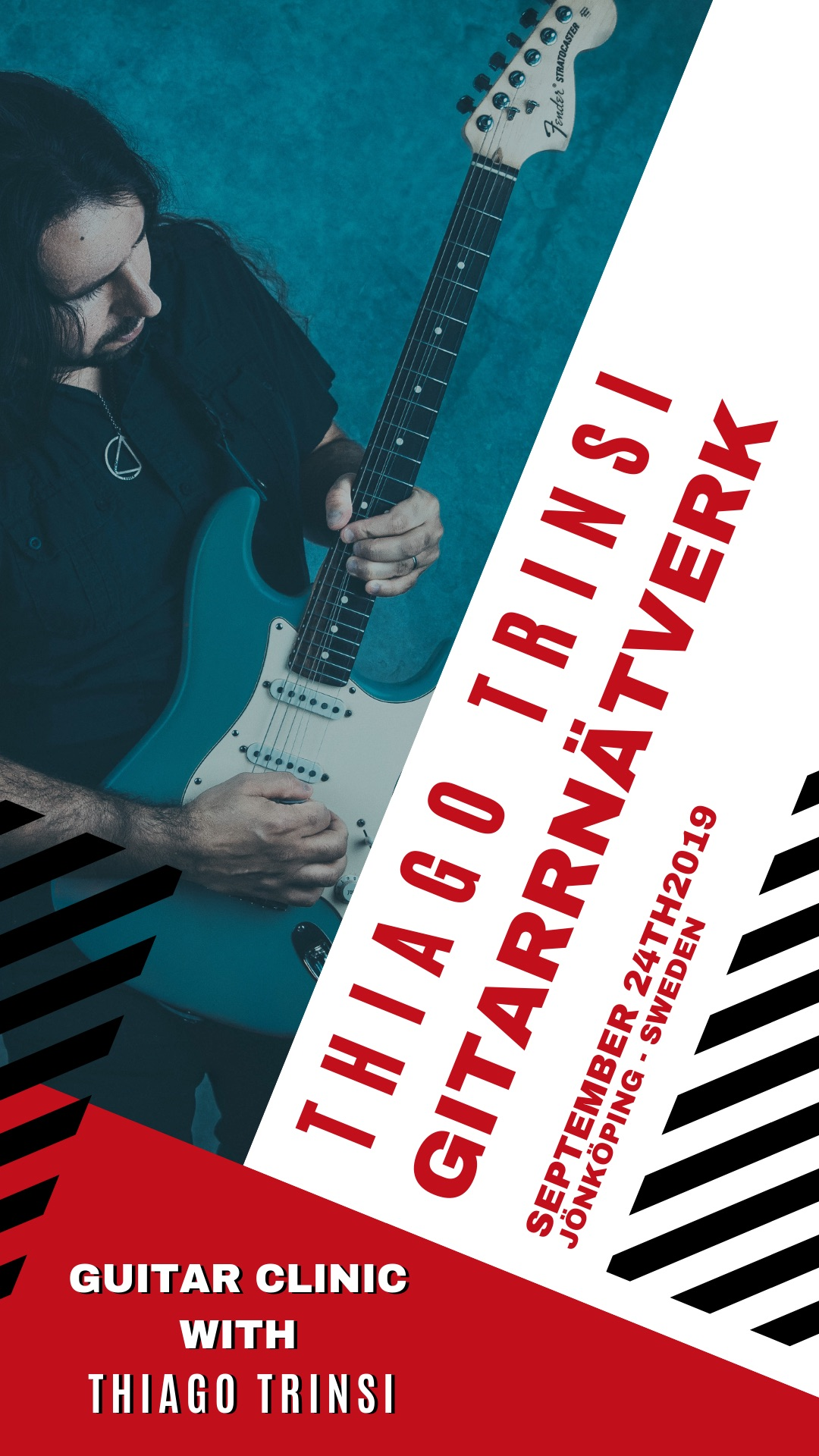 Guitar Clinic With Thiago Trinsi in Jönköping - Sweden - September 24th
